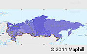 Political Shades Simple Map of Russia, single color outside