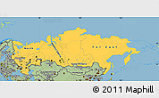 Savanna Style Simple Map of Russia