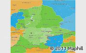 Political Shades 3D Map of Urals