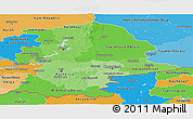 Political Shades Panoramic Map of Urals