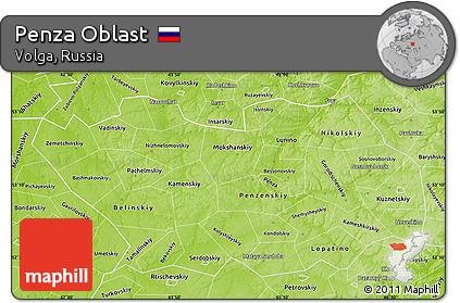 Street map Penza Russia