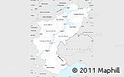 Silver Style Simple Map of Volga