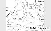 Blank Simple Map of Yamalo-Nenets Autonomous Okrug