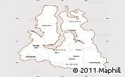 Classic Style Simple Map of Yamalo-Nenets Autonomous Okrug, cropped outside