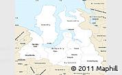 Classic Style Simple Map of Yamalo-Nenets Autonomous Okrug