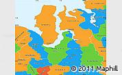 Political Simple Map of Yamalo-Nenets Autonomous Okrug