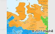 Political Shades Simple Map of Yamalo-Nenets Autonomous Okrug