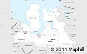 Silver Style Simple Map of Yamalo-Nenets Autonomous Okrug
