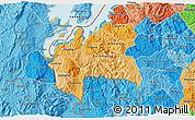 Political Shades 3D Map of Cyangugu