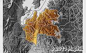 Physical Map of Cyangugu, desaturated