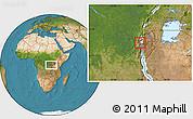 Satellite Location Map of Nyakabuye, highlighted parent region