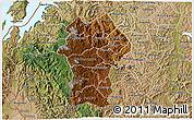 Physical 3D Map of Gikongoro, satellite outside