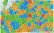Political 3D Map of Gikongoro