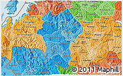 Political Shades 3D Map of Gikongoro