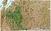 Satellite 3D Map of Gikongoro