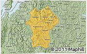 Savanna Style 3D Map of Gikongoro