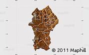 Physical Map of Gikongoro, cropped outside