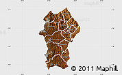 Physical Map of Gikongoro, single color outside