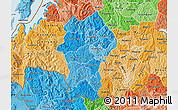 Political Shades Map of Gikongoro
