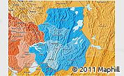 Political Shades 3D Map of Kibungu