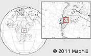 Blank Location Map of Kigarama
