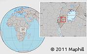 Gray Location Map of Kigarama