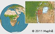 Satellite Location Map of Kigarama