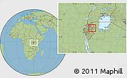 Savanna Style Location Map of Kigarama