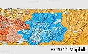 Political Shades Panoramic Map of Kibungu