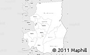 Silver Style Simple Map of Kibungu