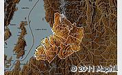 Physical Map of Kibuye, darken