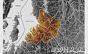 Physical Map of Kibuye, desaturated
