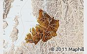 Physical Map of Kibuye, lighten