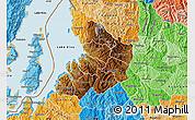 Physical Map of Kibuye, political shades outside