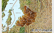 Physical Map of Kibuye, satellite outside