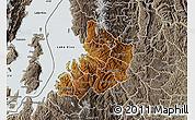 Physical Map of Kibuye, semi-desaturated