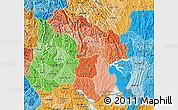 Political Shades Map of Kigali