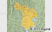 Savanna Style Map of Kigali