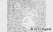 Silver Style Map of Kigali