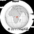 Outline Map of Kigali