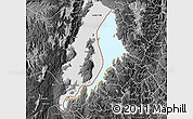 Physical Map of Lake Kivu, desaturated
