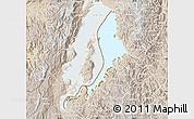 Physical Map of Lake Kivu, lighten