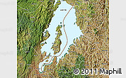 Satellite Map of Lake Kivu