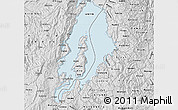 Silver Style Map of Lake Kivu