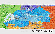 Political Shades Panoramic Map of Rwanda
