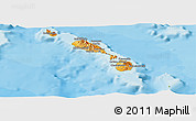 Political Shades Panoramic Map of Saint Kitts and Nevis