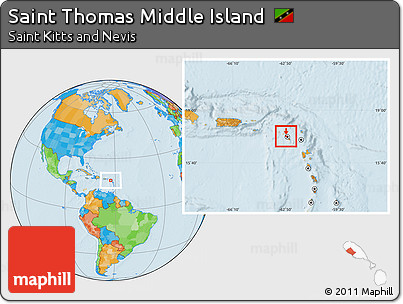 Free Political Location Map of Saint Thomas Middle Island on st thomas tortola, st thomas caribbean, st thomas usvi, st thomas barbados, st thomas virgin islands, st thomas st maarten, st thomas antigua, st thomas st croix,