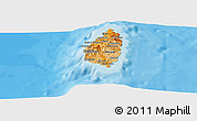 Political Shades Panoramic Map of Saint Lucia