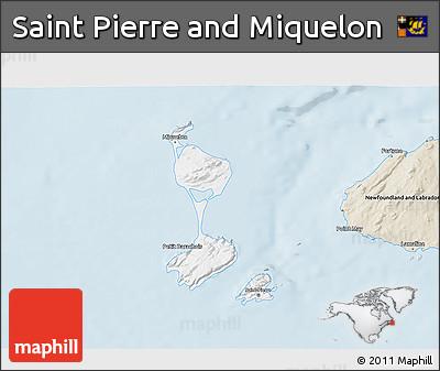 Classic Style 3D Map of Saint Pierre and Miquelon
