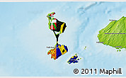 Flag 3D Map of Saint Pierre and Miquelon, physical outside